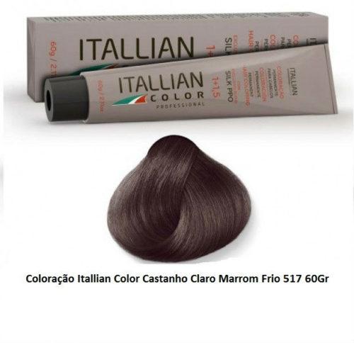 Coloração-Itallian-Color-Castanho-Claro-Marrom-Frio-517-60Gr