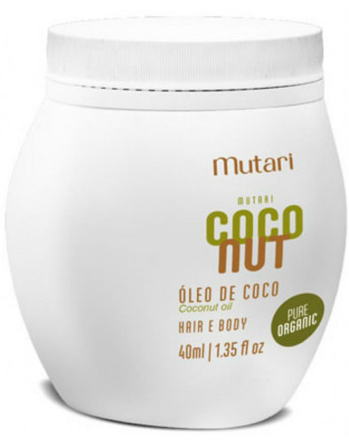 Mutari Óleo De Coco Pure Organic Hair & Body 40Ml